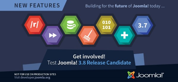 Joomla! 3.8 Release Candidate Now Available