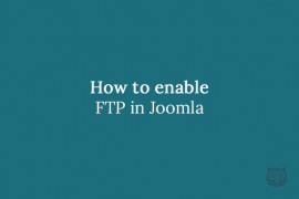 How to enable FTP in Joomla