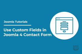 How to Use Custom Fields in Joomla 4 Contact Form