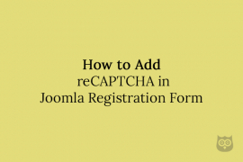 How to Add reCAPTCHA in Joomla Registration Form