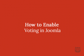 How to enable Voting in Joomla
