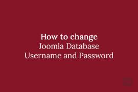 How to change Joomla Database Username and Password