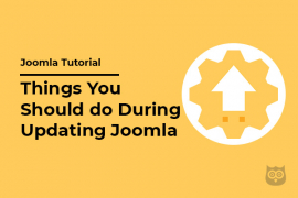 8 Things You Should do During Updating Joomla