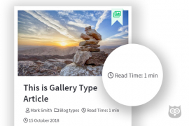 How To Display Approximate Read Time in Joomla Article Meta Info