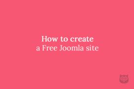 How to create a Free Joomla site