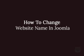 How To Change Website Name In Joomla