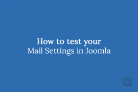 How to test your Joomla email settings