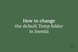 How to change the default Temp folder in Joomla