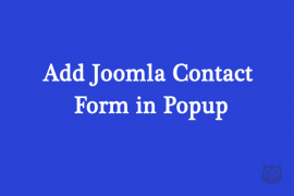 How to Add Joomla Contact Form in a Popup?