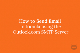How to Send Email in Joomla using the Outlook.com SMTP Server (previously known as Hotmail)