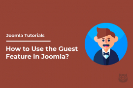 How to Use the Guest Feature in Joomla?