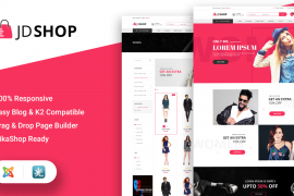 JD Shop - The Cool Freemium - Responsive eCommerce Hikashop Joomla Template