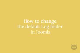 How to change the default Log folder in Joomla