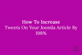 How To Increase Tweets On Your Joomla Article By 198%