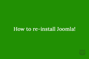 How to re-install Joomla!