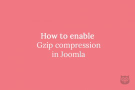 How to enable Gzip compression in Joomla