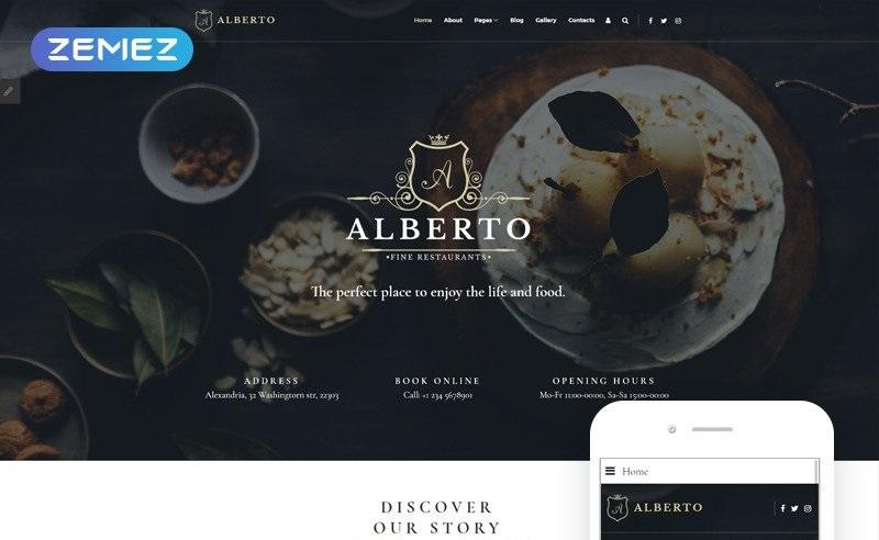 Alberto Restaurant Responsive Classy Joomla Template