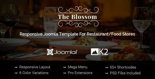 Blossom Responsive Joomla Template For Restaurant