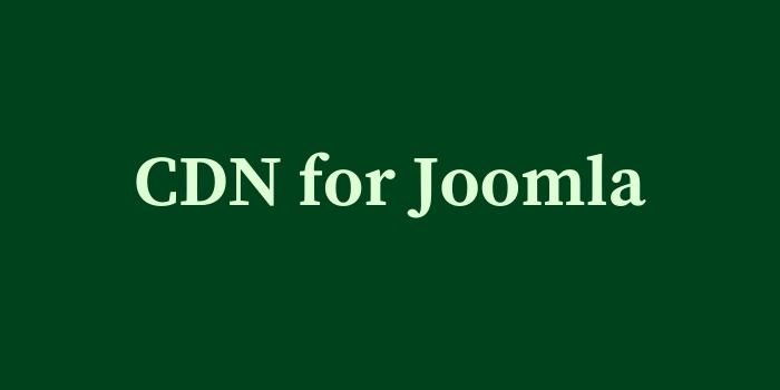 CDN for Joomla