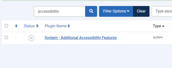 Enable Accessibility Feature