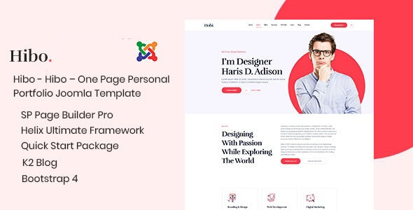 Hibo Personal Portfolio Joomla Template