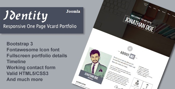 Identity Joomla Portfolio Template