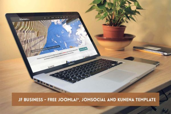 Modern business free Joomla template