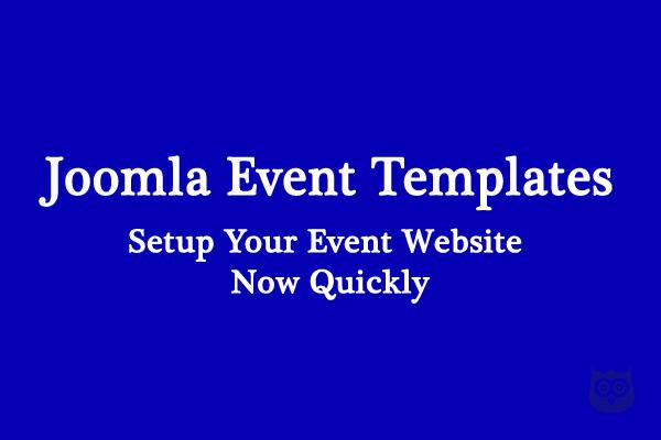 15 Best Joomla Templates for Event Websites