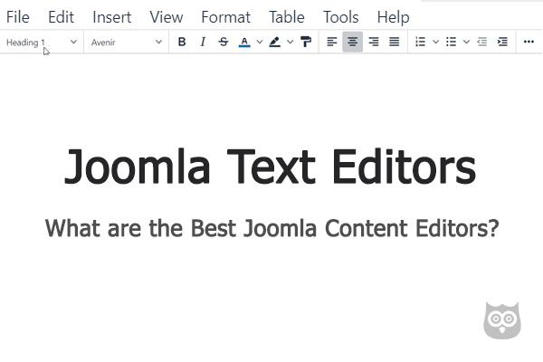Joomla Content Editors - What are the Best Joomla Text Editor Extensions?