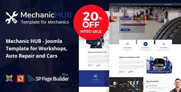 MechanicHUB joomla template