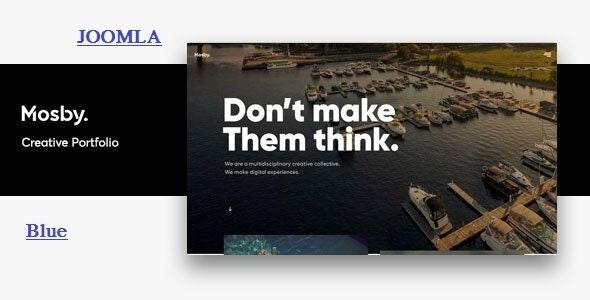 Joomla portfolio template