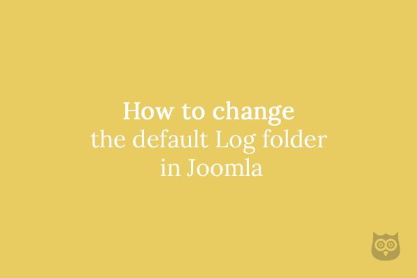 How to change the default Log folder in Joomla
