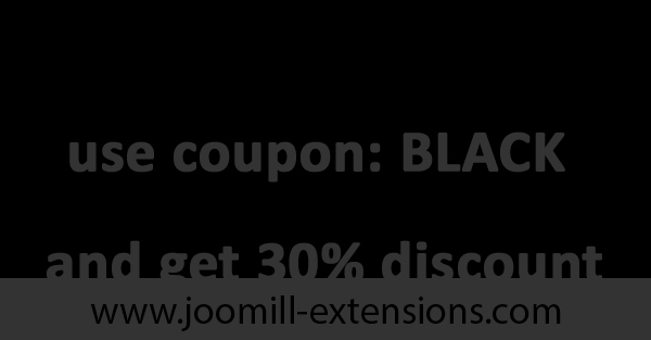 Black Friday & Cyber Monday Joomla Deal 2017 - Discount