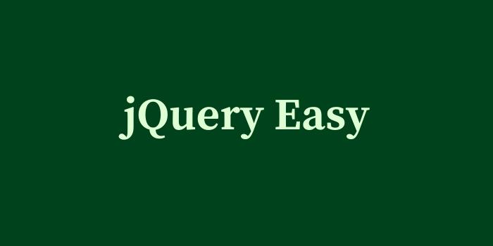 jQuery Easy