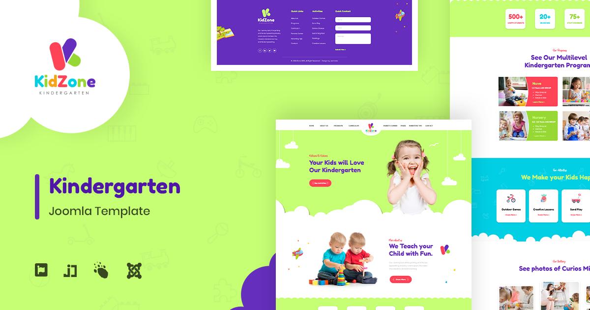 jdkidzone Kindergarten Joomla Template