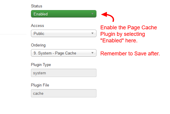 joomla-enable-page-cache-plugin