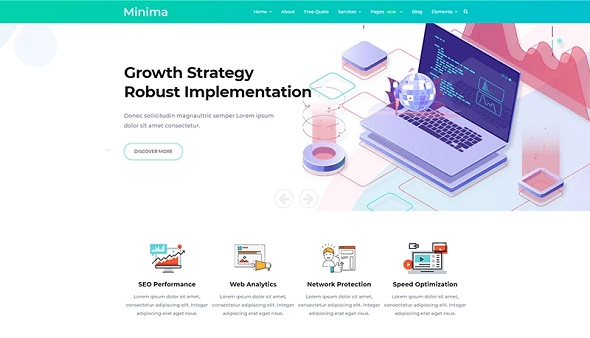 minima digital and online marketing joomla template