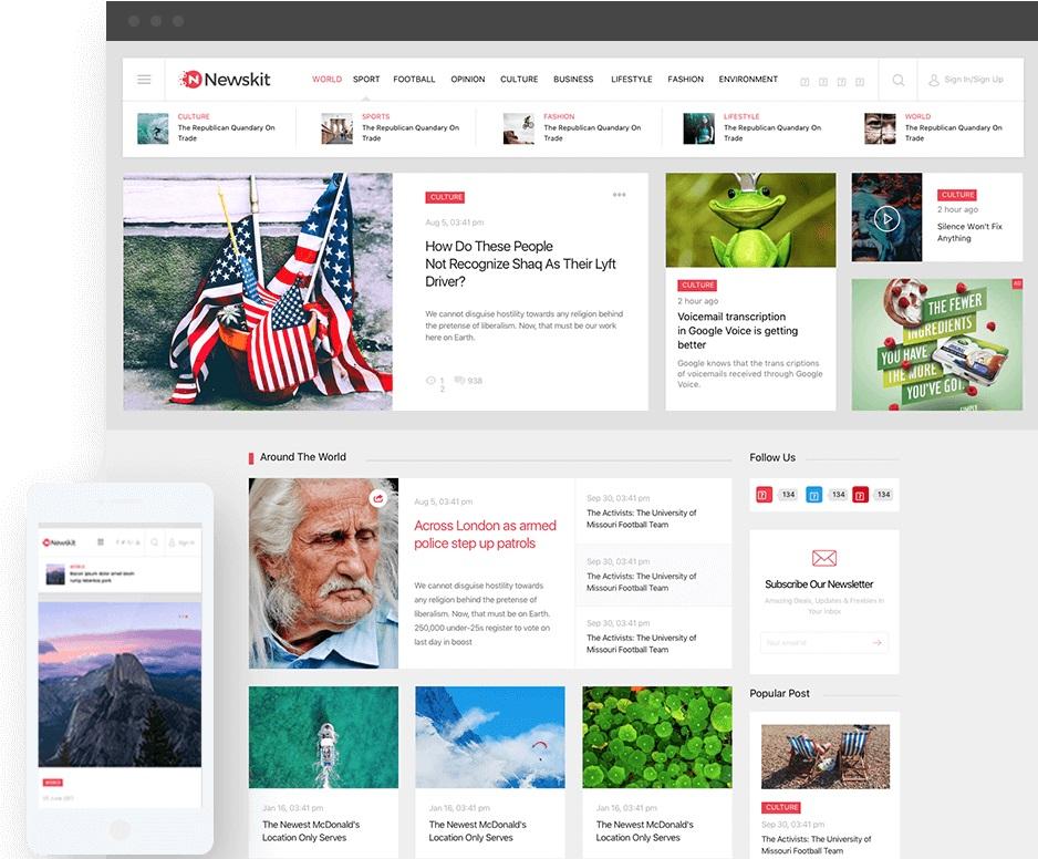 Newskit Joomla template